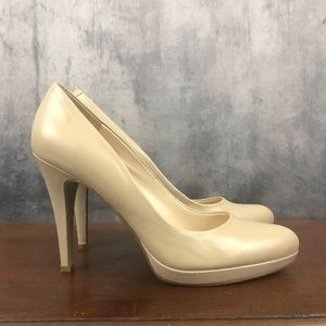 Nine West Wise Up Beige Nude Pumps 7M